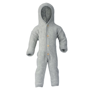 Hooded wool overall