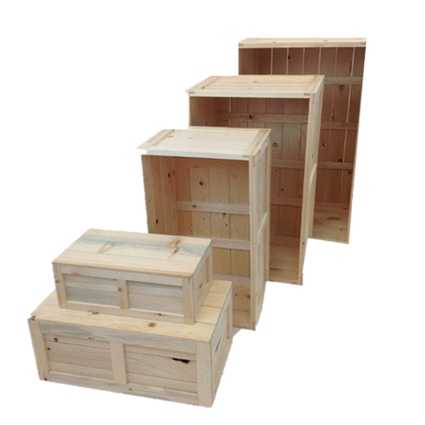 Our western style rustic crate series 100 lined up without stain or props