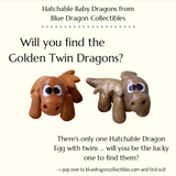 Hatchable Baby Dragon Egg Golden Twins by Blue Dragon Collectibles
