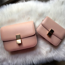 Load image into Gallery viewer, New Genuine Leather Tofu Women Bag Luxury Design Handbag
