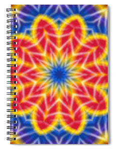 Flower Tie Dye Kaleidoscope - Spiral Notebook