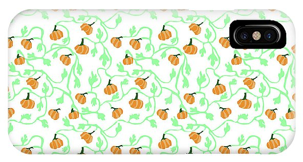 Pumpkin Vines Pattern - Phone Case