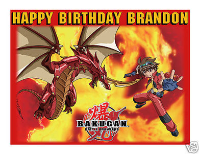 Bakugan Edible Cake Image Cake Topper - Cakes For Cures