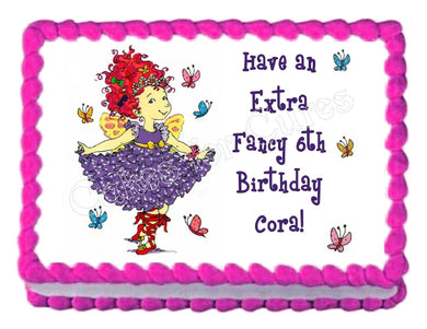Fancy Nancy Edible Cake Image Cake Topper - Cakes For Cures