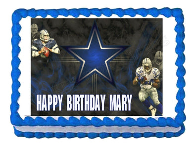 Dallas Cowboys Football Edible Cake Image Cake Topper - Cakes For Cures