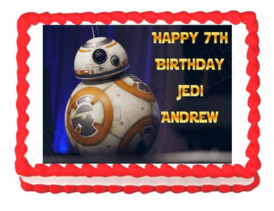 Star Wars The Force Awakens BB-8 Edible Cake Image Cake Topper - Cakes For Cures