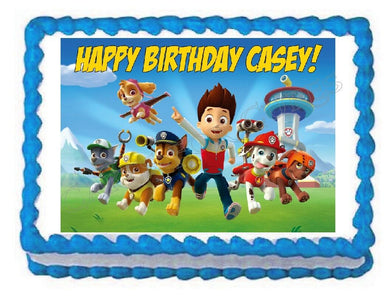 Paw Patrol Edible Cake Image Cake Topper - Cakes For Cures