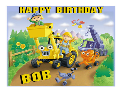 Bob the Builder Edible Cake Image Cake Topper - Cakes For Cures