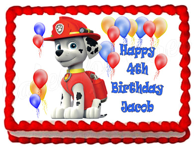Paw Patrol Marshall Edible Cake Image Cake Topper Decoration - Cakes For Cures