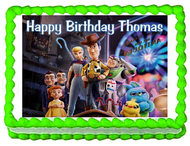 Toy Story 4 Edible Cake Image Cake Topper