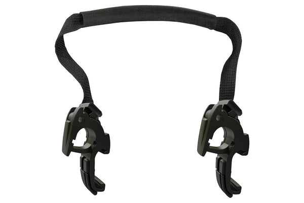 Ortlieb Replacement Pannier Hooks: For QL2.1 Systems, Fits 20mm Rails Only (no inserts), Pair, Black