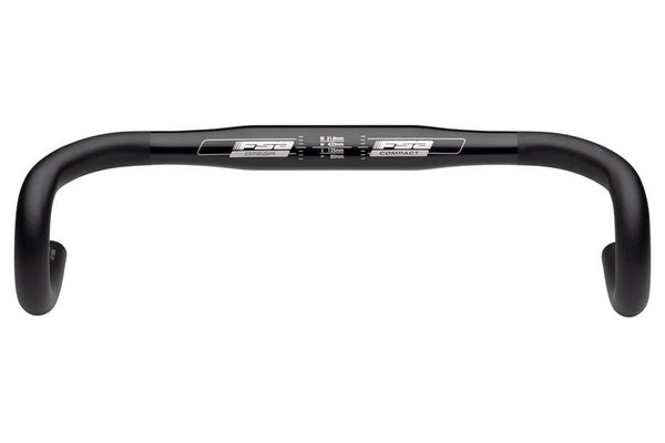 FSA Omega Compact 44cm 31.8 Anatomic Drop Bar Black