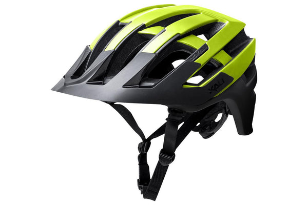 Kali Protectives Interceptor Helmet: Halo Matte Fluorescent Yellow/Black SM/MD