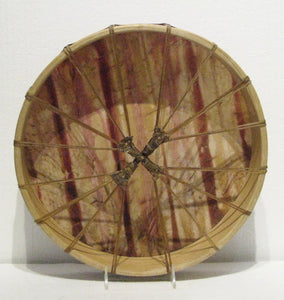 Chestnuts & Beets Dyed Drum back, artist Michelle Tweed