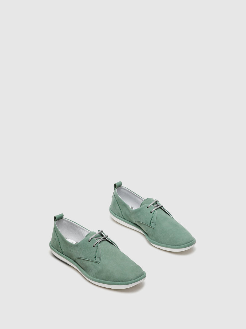 Zapatillas con Cordones en color Verde