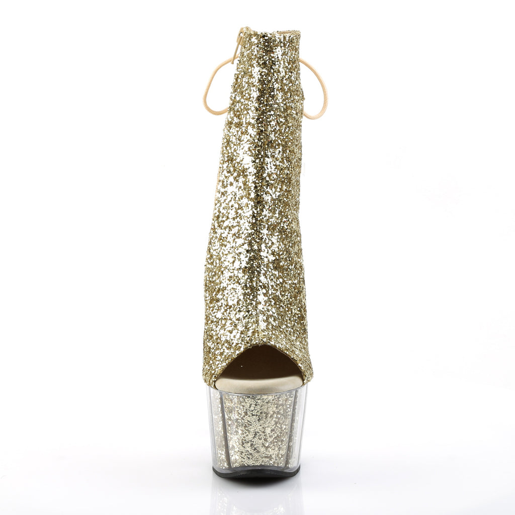 Adore 1018G Gold Sparkly Platform Ankle Boots