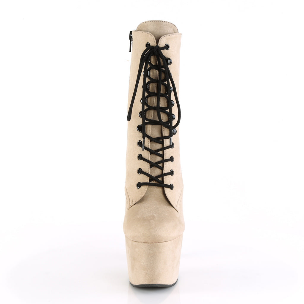 Adore 1020 Beige Faux Suede and Black Vegan Boots