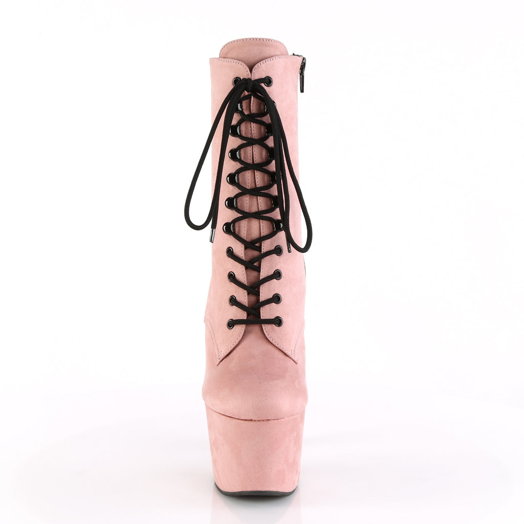 Adore 1020 Baby Pink Faux Suede Vegan Boots