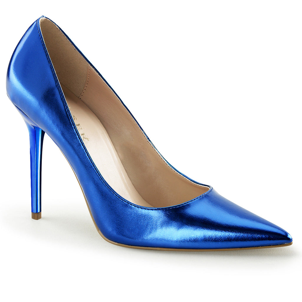 Classique 20 Metallic Blue Pointed Stilettos