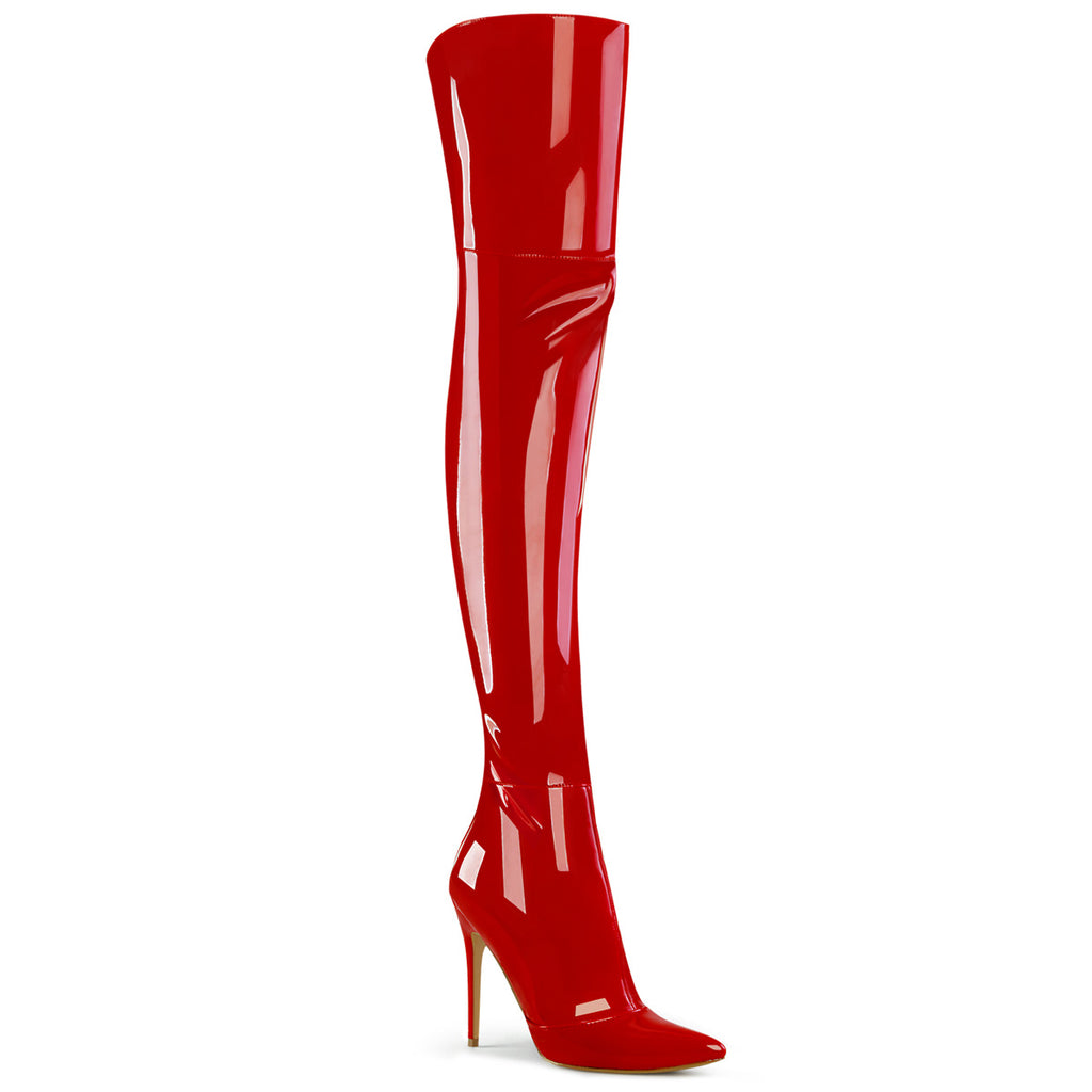 Courtly 3012 Red Patent Thigh High Boots