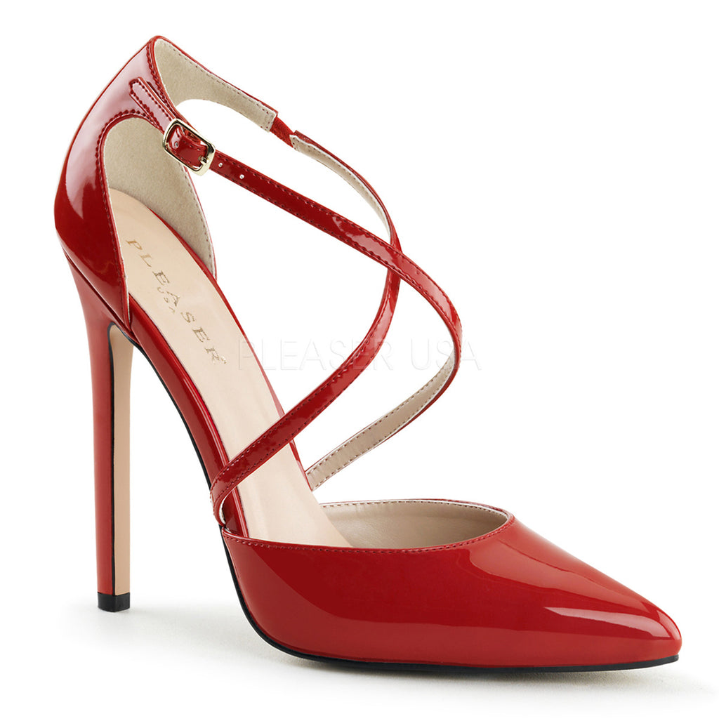 Sexy 26 Red Patent Strappy Stilettos