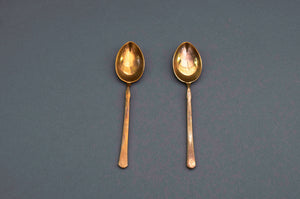 The Headhunter Cara - Pair of Enamel Decorated Coffee Spoons