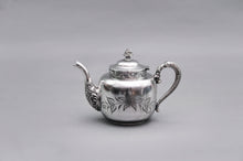 Load image into Gallery viewer, The Punk Albert - Quadruple Plate Floral Engraved Teapot