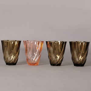 The Punk Avery - Luminarc Vintage Geometric Twisted Glass Vase