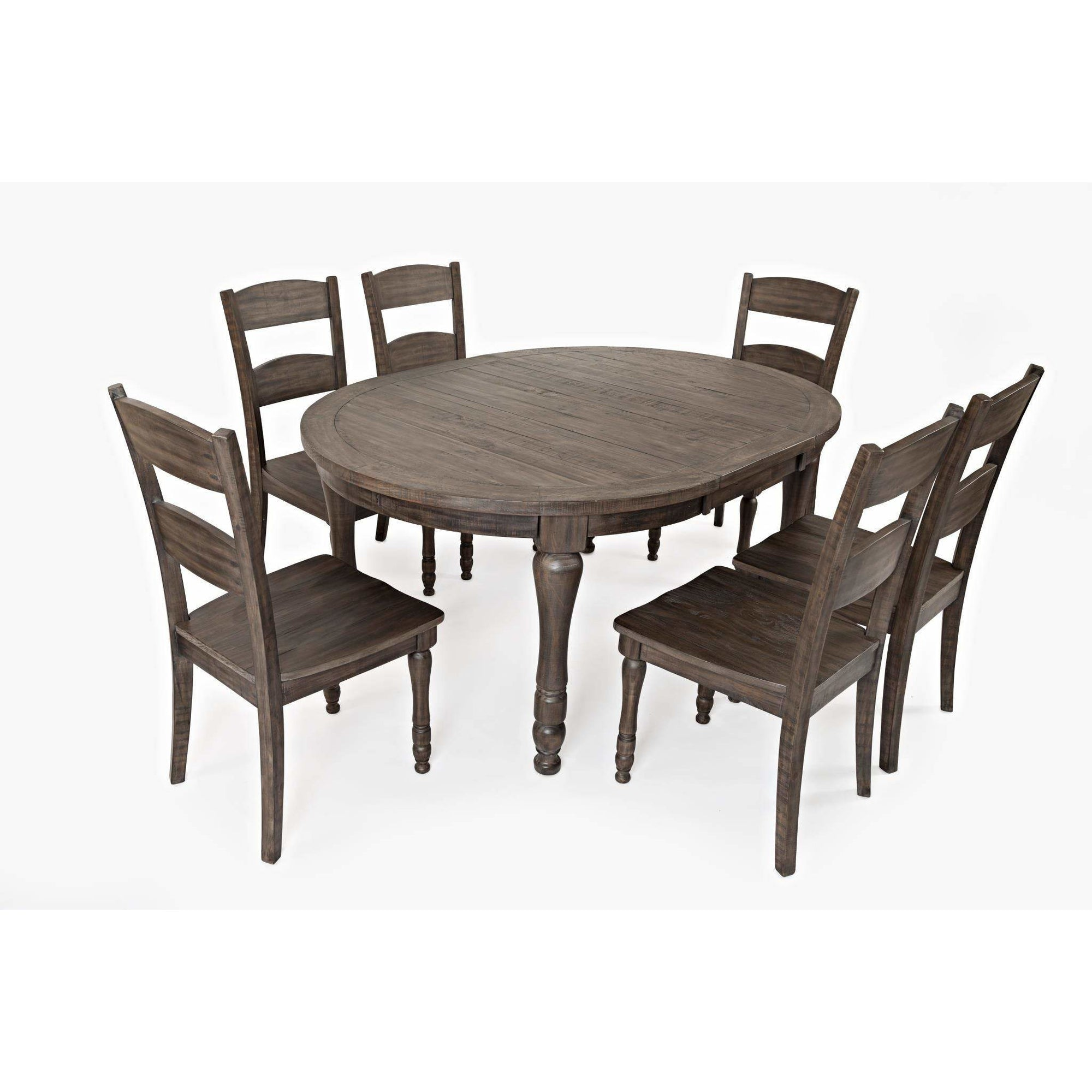 Madison County Oval Dining Set - Barnwood