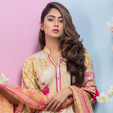 Maya Ali Embroidered Lawn Collection 2018 - (4B) - test-store-for-chase-value