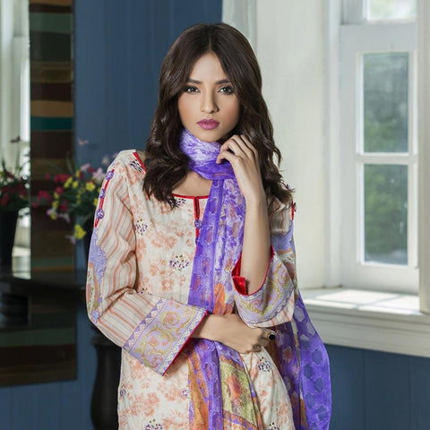 Kalyan Exclusive Embroidered Lawn Suit - 2B - test-store-for-chase-value