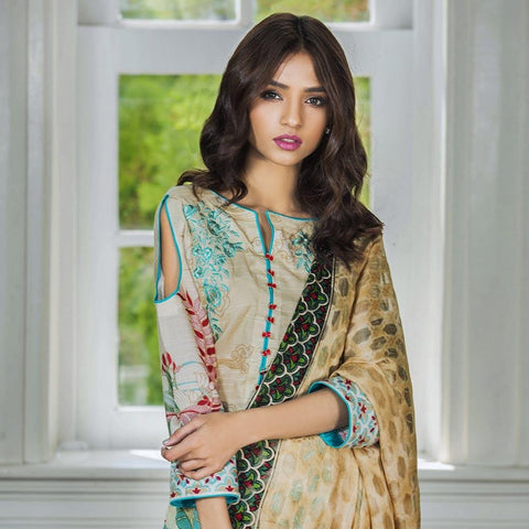 Kalyan Exclusive Embroidered Lawn Suit - 4A - test-store-for-chase-value
