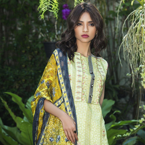 Kalyan Exclusive Embroidered Lawn Suit - 6B - test-store-for-chase-value