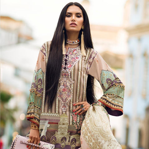 Elan Designer Embroidered Lawn Suit - 4B - test-store-for-chase-value