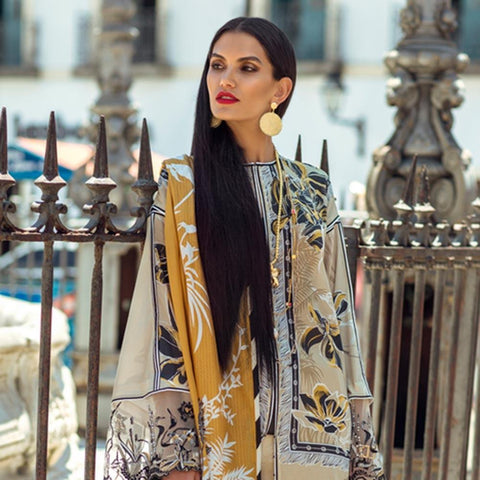 Elan Designer Embroidered Lawn Suit - 9A - test-store-for-chase-value