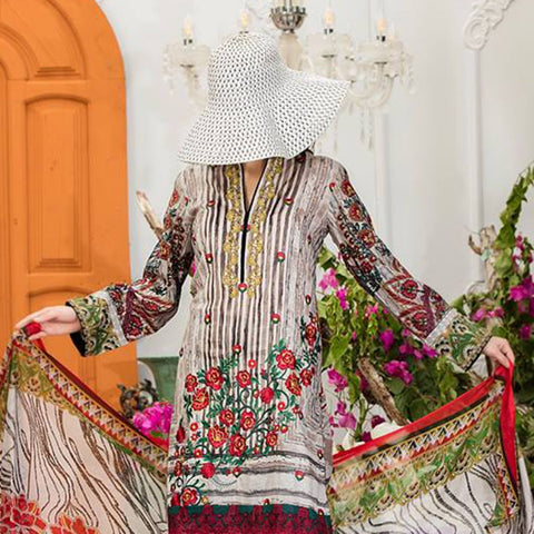 Sauda Saad Embroidered Lawn Suit Vol-01 - 04A - test-store-for-chase-value