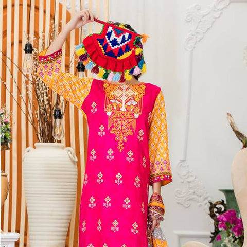 Sauda Saad Embroidered Lawn Suit Vol-01 - 08A - test-store-for-chase-value