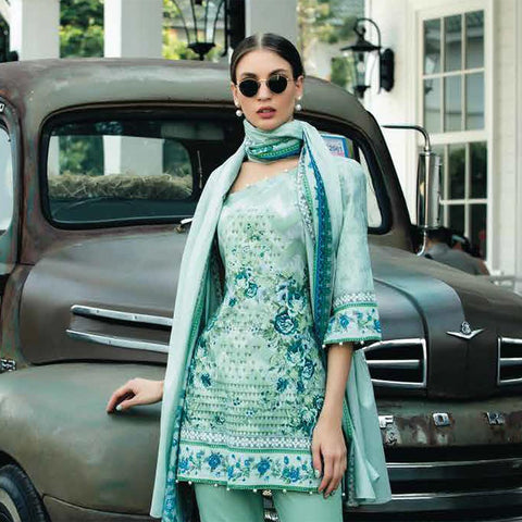 Subhata Printed Lawn Suit 7A - test-store-for-chase-value