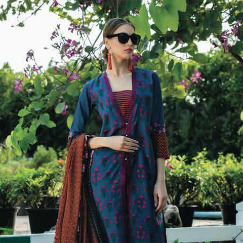 Subhata Printed Lawn Suit 3B - test-store-for-chase-value
