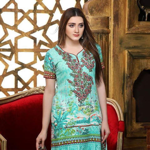 Creme De La Creme Embroidered Lawn Suit - 3999-A - test-store-for-chase-value