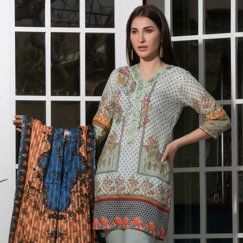Chase Value Centre Digital Printed Festive Lawn Suit - 14 - test-store-for-chase-value