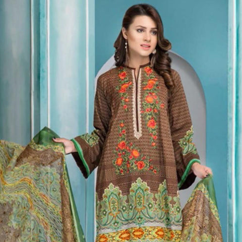 Noor Jahan Embroidered Lawn Suit - 18 - test-store-for-chase-value