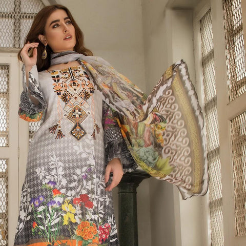 Kalyan Digital Embroidered Lawn Suit - 02 - test-store-for-chase-value