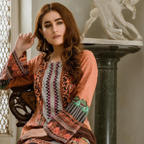 Kalyan Digital Embroidered Lawn Suit - 03 - test-store-for-chase-value