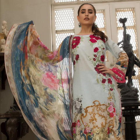 Kalyan Digital Embroidered Lawn Suit - 07 - test-store-for-chase-value