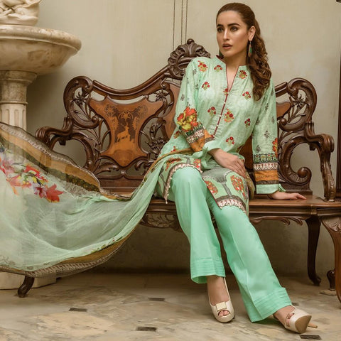 Kalyan Digital Embroidered Lawn Suit - 1A - test-store-for-chase-value