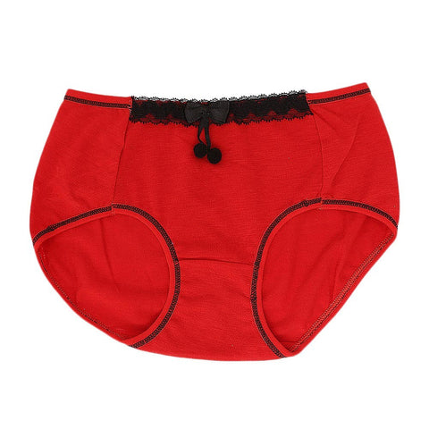 Women's Fancy Panty - Red - test-store-for-chase-value