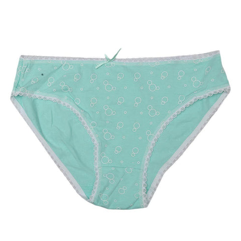 Women's Net Lace Panty - Cyan - test-store-for-chase-value