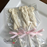 12 BALLET SLIPPERS Chocolate Lollipop Candy Party Dance Favors