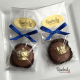 12 Gold Dusted CROWN Chocolate Covered Oreo Cookie Candy Party Favors